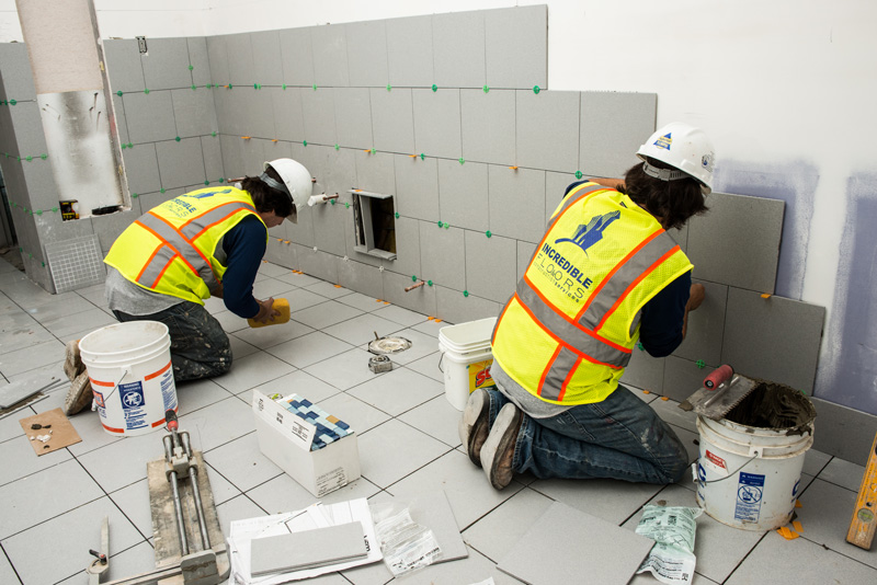 Tilework For Team Chevrolet Incredible Floors