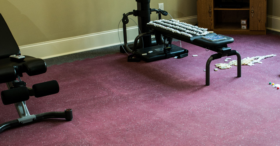 workout-room-custom-carpet-installation